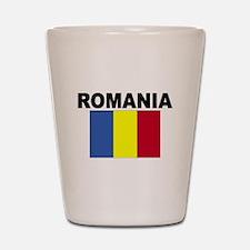 Romania Flag Shot Glass