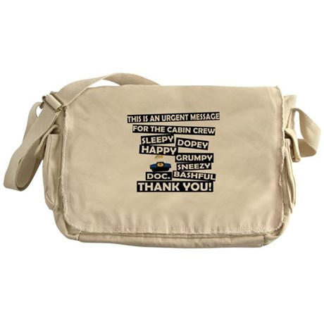 Cabin Pressure - Dwarf names Messenger Bag