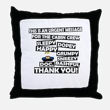 Cabin Pressure - Dwarf names Throw Pillow