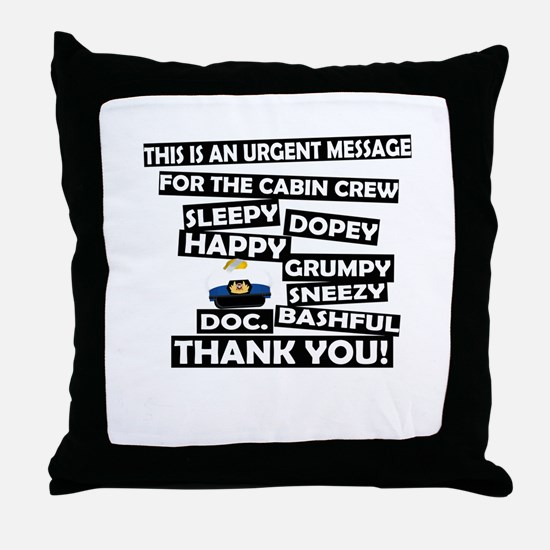 Cabin Pressure - Dwarf names Throw Pillow
