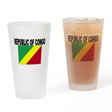 Republic of Congo Flag Drinking Glass