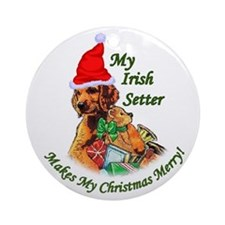 Irish Setter Christmas Ornament (Round)