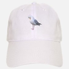 Preening Seagull Bird. Baseball Baseball Baseball Cap