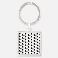 Wallaby Pattern. Black. Keychains