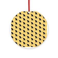 Wallaby Pattern. Yellow. Ornament (Round)