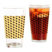 Wallaby Pattern. Yellow. Drinking Glass