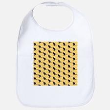 Wallaby Pattern. Yellow. Bib