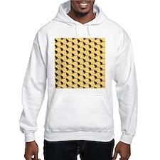 Wallaby Pattern. Yellow. Hoodie