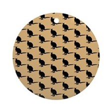 Wallaby Pattern. Brown. Ornament (Round)