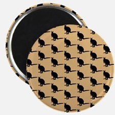 Wallaby Pattern. Brown. Magnet
