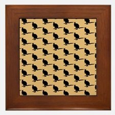 Wallaby Pattern. Brown. Framed Tile