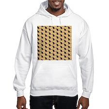 Wallaby Pattern. Brown. Hoodie
