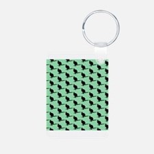 Wallaby Pattern, Green. Keychains