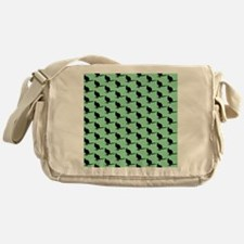 Wallaby Pattern, Green. Messenger Bag