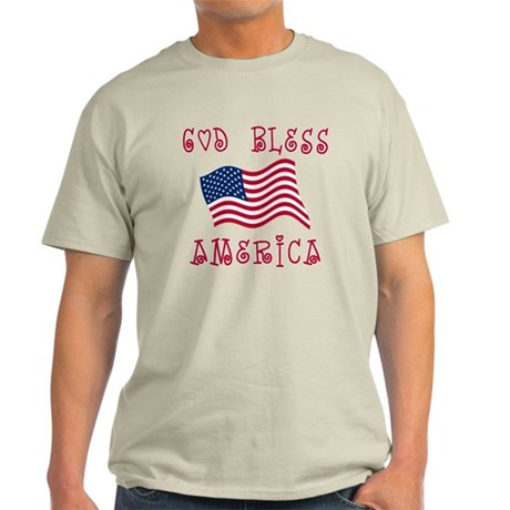 God Bless America with Flag Light T-Shirt