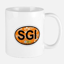 St George Island - Oval Design. Mug