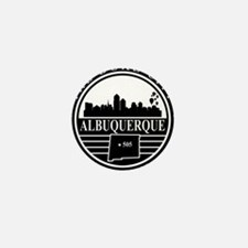 Albuquerque logo black and white Mini Button
