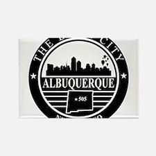 Albuquerque logo black and white Rectangle Magnet