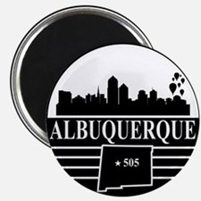 "Albuquerque logo black and white 2.25"" Magnet (100"