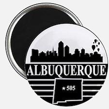 "Albuquerque logo black and white 2.25"" Magnet (10"