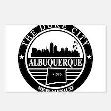 Albuquerque logo black and white Postcards (Packag