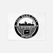 Albuquerque logo black and white 5'x7'Area Rug