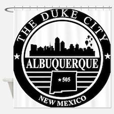 Albuquerque logo black and white Shower Curtain