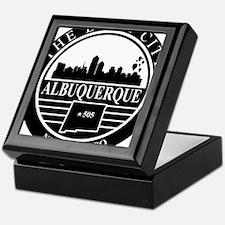 Albuquerque logo black and white Keepsake Box