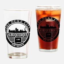 Albuquerque logo black and white Drinking Glass