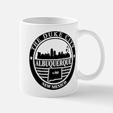 Albuquerque logo black and white Mug