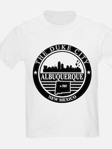 Albuquerque logo black and white T-Shirt