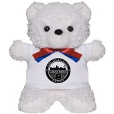 Albuquerque logo black and white Teddy Bear
