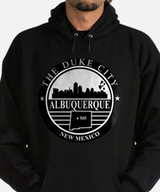 Albuquerque logo black and white Hoodie