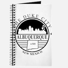 Albuquerque logo white and black Journal