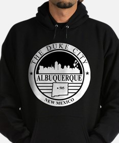 Albuquerque logo white and black Hoodie