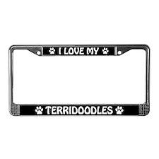 I Love My Terridoodles (Plural) License Frame