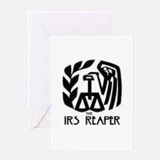 IRS Reaper Greeting Card