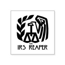"IRS Reaper Square Sticker 3"" x 3"""