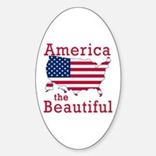 AMERICA the BEAUTIFUL Sticker (Oval)
