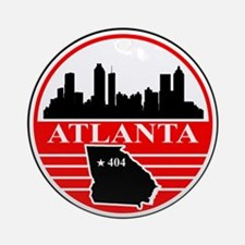 Atlanta logo black and red Ornament (Round)