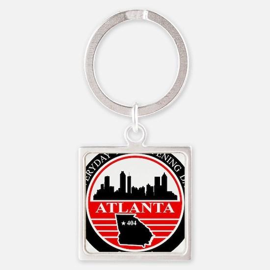 Atlanta logo black and red Keychains