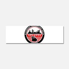 Atlanta logo black and red Car Magnet 10 x 3
