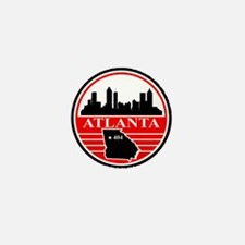Atlanta logo black and red Mini Button (10 pack)