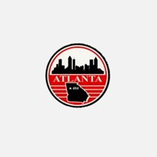 Atlanta logo black and red Mini Button