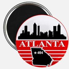 "Atlanta logo black and red 2.25"" Magnet (100 pack)"