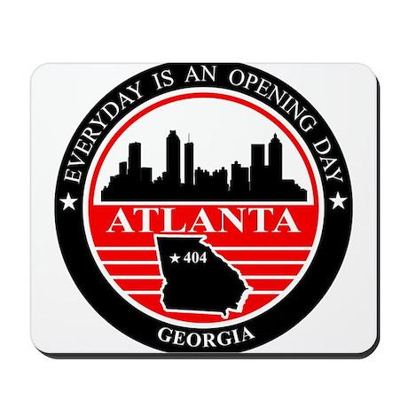 Atlanta logo black and red Mousepad