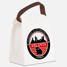 Atlanta logo black and red Canvas Lunch Bag