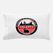 Atlanta logo black and red Pillow Case