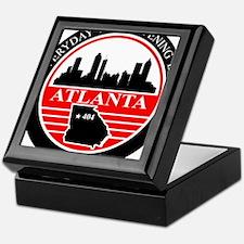 Atlanta logo black and red Keepsake Box