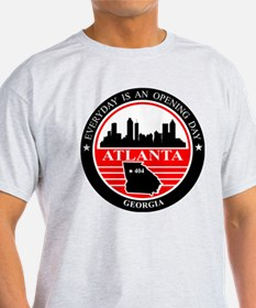 Atlanta logo black and red T-Shirt